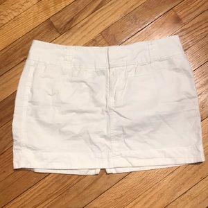 Old Navy mini cargo white skirt sz 4 cotton